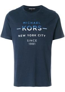 Michael Michael Kors logo print T-shirt - Blue