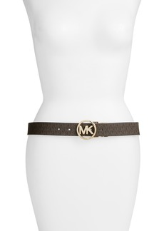 MICHAEL Michael Kors Logo Reversible Leather Belt
