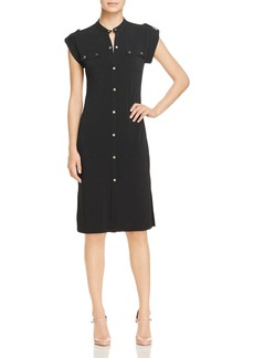 MICHAEL Michael Kors Logo Snap Utility Shirt Dress