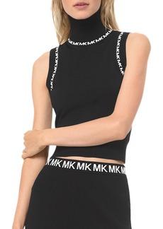 MICHAEL Michael Kors Logo-Trimmed Turtleneck Tank