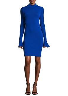 MICHAEL Michael Kors Long Bell-Sleeve Sheath Dress