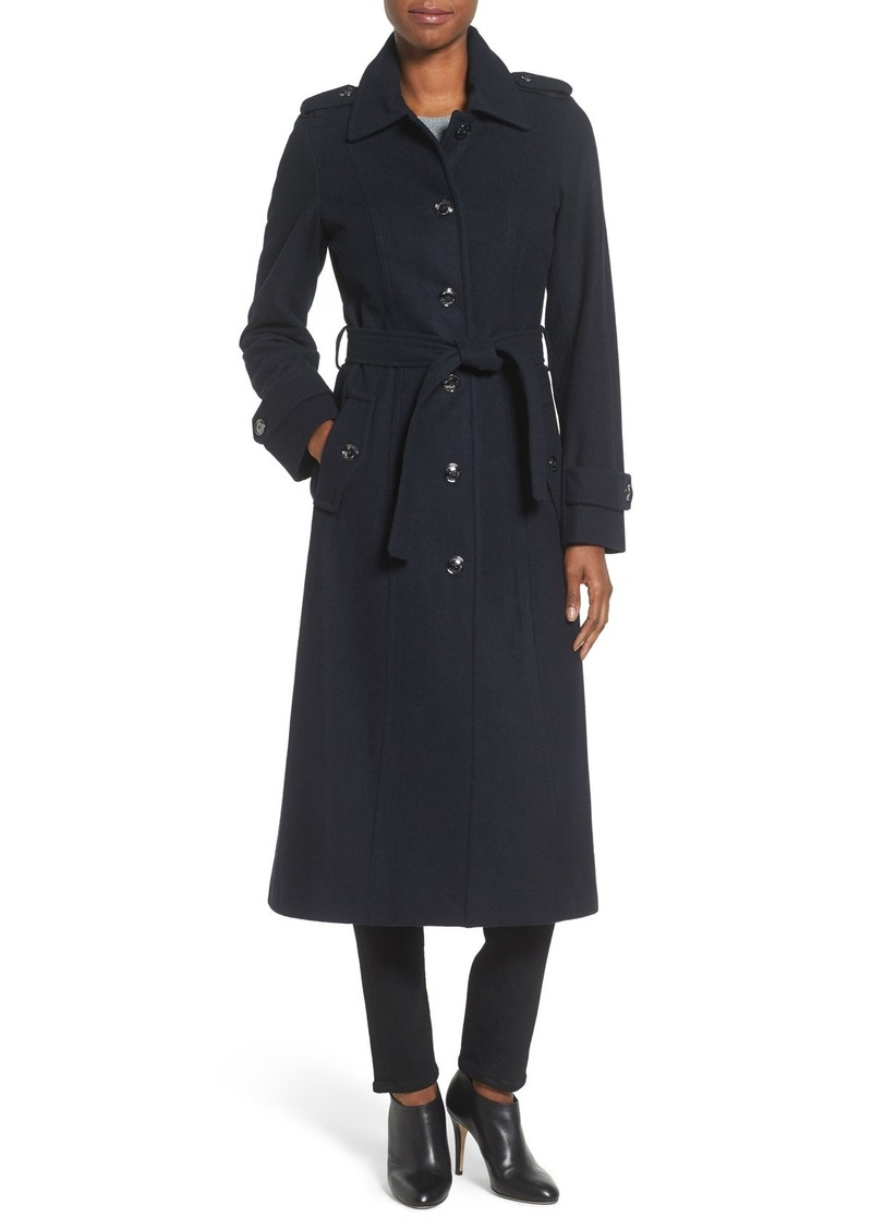 MICHAEL Michael Kors Long Belted Wool Blend Coat