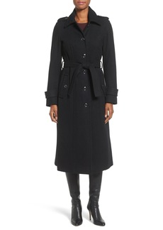 MICHAEL Michael Kors Long Belted Wool Blend Coat