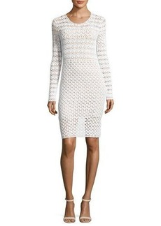 MICHAEL Michael Kors Long-Sleeve Crocheted Sweaterdress