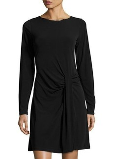 MICHAEL Michael Kors Long-Sleeve Drape-Front Dress