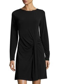 MICHAEL Michael Kors Long-Sleeve Drape-Front Dress