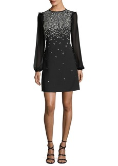 MICHAEL Michael Kors Long-Sleeve Embroidered Dress