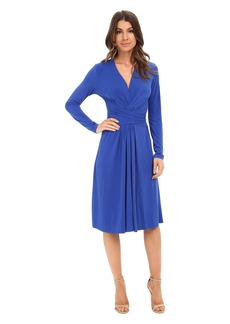 MICHAEL Michael Kors Long Sleeve Faux Wrap Dress