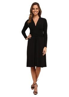 MICHAEL Michael Kors Long Sleeve Faux Wrap Dress