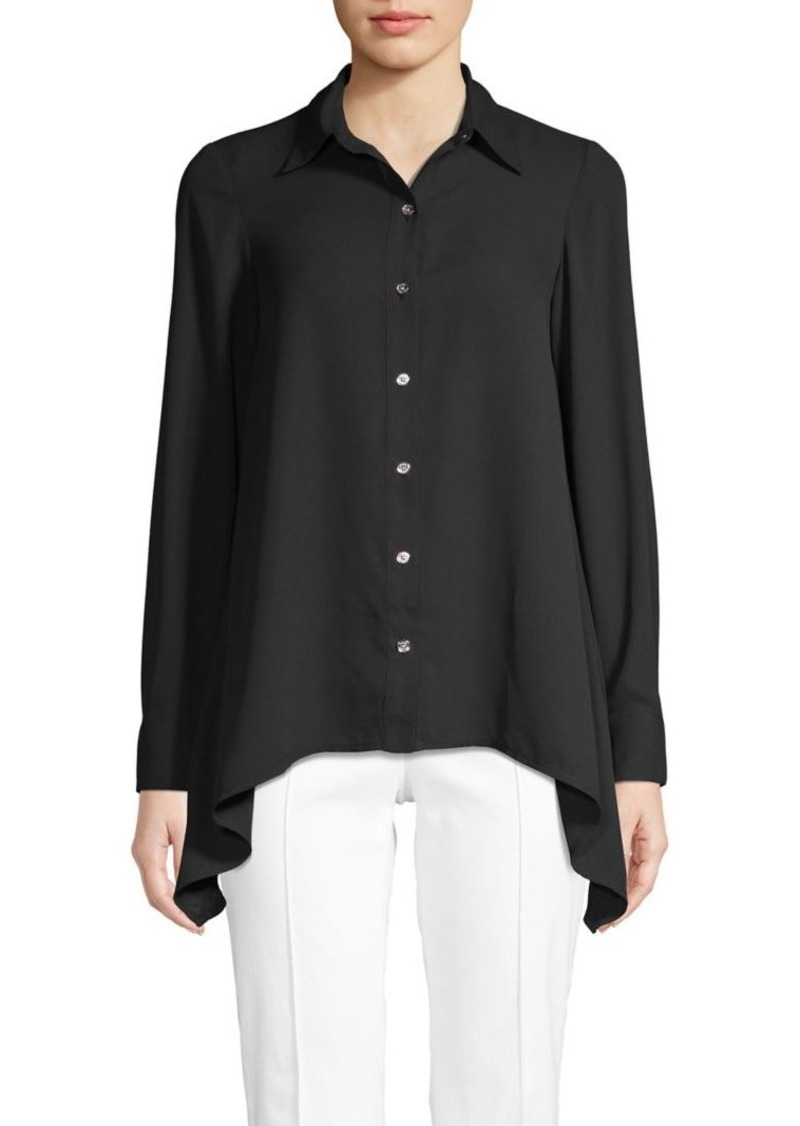 MICHAEL Michael Kors Long-Sleeve Handkerchief-Hem Shirt