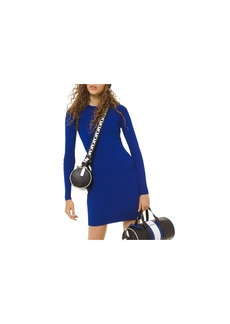 MICHAEL Michael Kors Long-Sleeve Logo-Trim Mini Dress