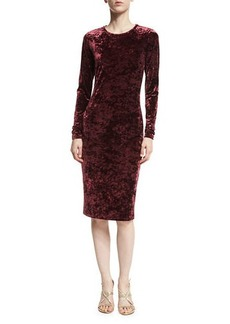 MICHAEL Michael Kors Long-Sleeve Panne Velvet Bodycon Dress