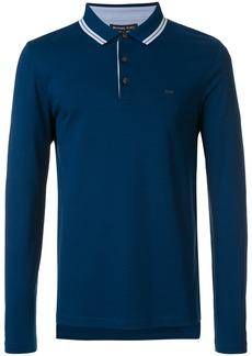 Michael Michael Kors long sleeve polo shirt - Blue