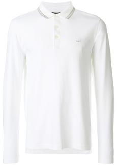 Michael Michael Kors long sleeve polo shirt - White