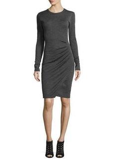MICHAEL Michael Kors Long-Sleeve Ruched Jersey Dress