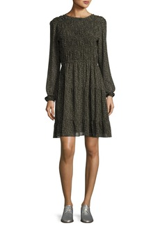 MICHAEL Michael Kors Long-Sleeve Smocked Dress