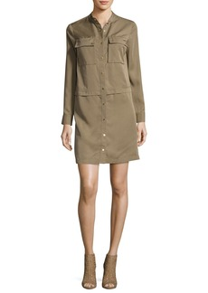 MICHAEL Michael Kors Long-Sleeve Snap-Front Tencel® Shirtdress