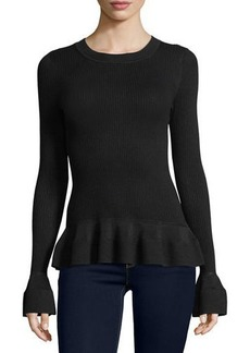 MICHAEL Michael Kors Long-Sleeve Textured-Knit Top