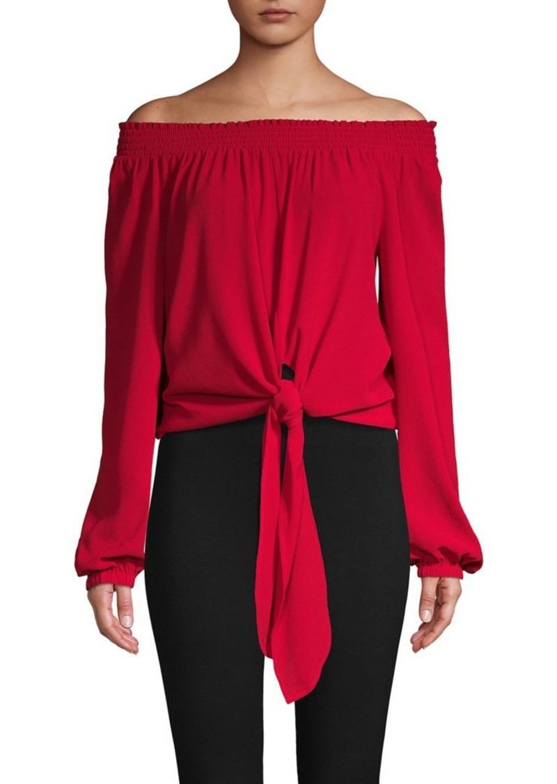 MICHAEL Michael Kors Long-Sleeve Tie-Front Top