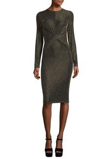 MICHAEL Michael Kors Long-Sleeve Twisted-Waist Bodycon Dress