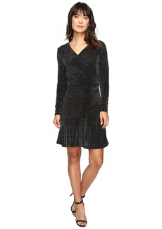 MICHAEL Michael Kors Long Sleeve Wrap Flounce Dress