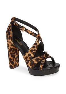 MICHAEL Michael Kors Lorene Genuine Calf Hair Platform Sandal (Women)