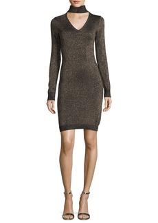 MICHAEL Michael Kors Lurex Choker-Collar Sweater Dress