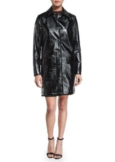 MICHAEL Michael Kors Macintosh Patent Faux-Leather Jacket