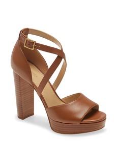 MICHAEL Michael Kors Marais Crisscross Strap Platform Sandal (Women)
