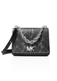 MICHAEL Michael Kors Matt Chain Leather Shoulder Bag