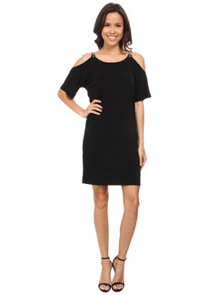 MICHAEL Michael Kors Matte Jersey Cold Shoulder Dress