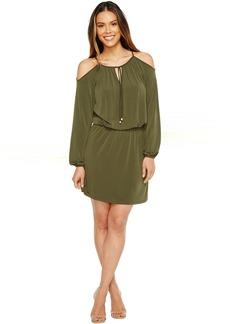 MICHAEL Michael Kors Matte Jersey Cold Shoulder Dress