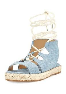 MICHAEL Michael Kors McKenna Denim Flatform Sandal