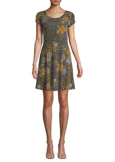 MICHAEL Michael Kors Medallion-Print Mini Dress