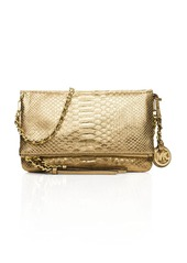 MICHAEL Michael Kors Medium Corinne Metallic Messenger Crossbody