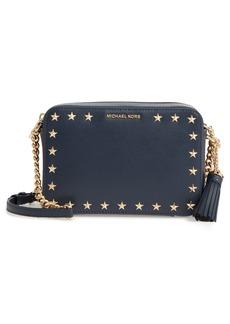 MICHAEL Michael Kors Medium Ginny Star Studded Leather Crossbody Camera Bag