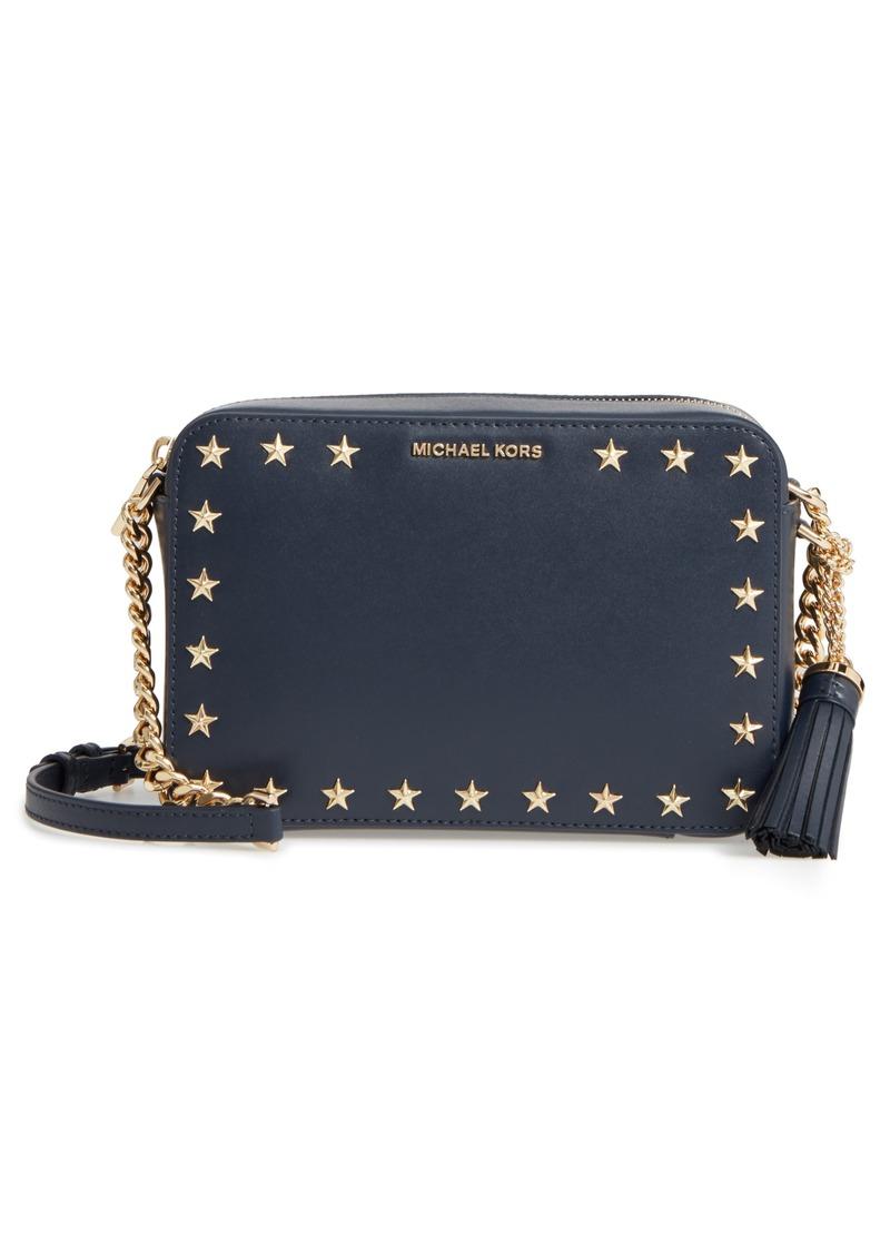74b9feb035a6 MICHAEL Michael Kors Medium Ginny Star Studded Leather Crossbody Camera Bag