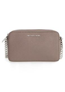MICHAEL Michael Kors 'Medium Jet Set' Leather Crossbody Bag