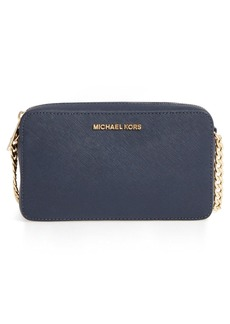 MICHAEL Michael Kors 'Medium Jet Set' Saffiano Leather Crossbody Bag