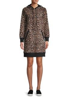 MICHAEL Michael Kors Mega Cheetah-Print Hoodie Dress