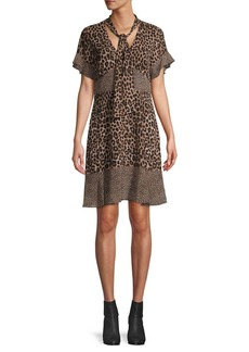 MICHAEL Michael Kors Mega Cheetah-Print Patchwork Dress