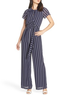 MICHAEL Michael Kors Mega Railroad Stripe Jumpsuit