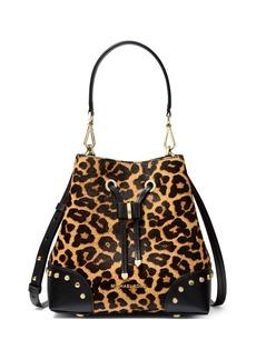 MICHAEL Michael Kors Mercer Gallery Small Cheetah-Print Bucket Bag