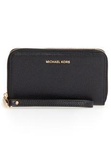 MICHAEL Michael Kors Mercer Large Leather Tech Wristlet