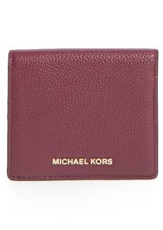 MICHAEL Michael Kors 'Mercer' Leather Card Case