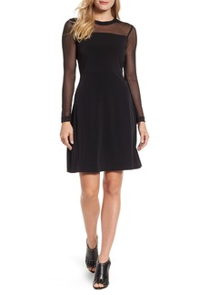 MICHAEL Michael Kors Mesh Fit & Flare Dress