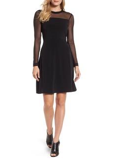 MICHAEL Michael Kors Mesh Fit & Flare Dress