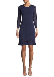 MICHAEL Michael Kors Mesh Flounce Dress