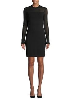 MICHAEL Michael Kors Mesh Long-Sleeve Sheath Dress