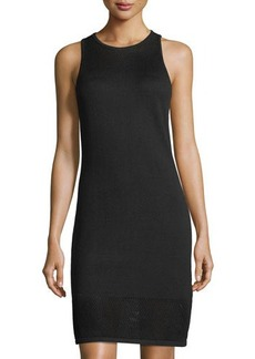 MICHAEL Michael Kors Mesh-Stitch Yoke Sleeveless Sweater Dress